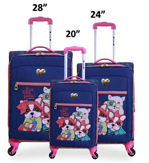 Set valijas SIMONES linea soft AZUL x3u