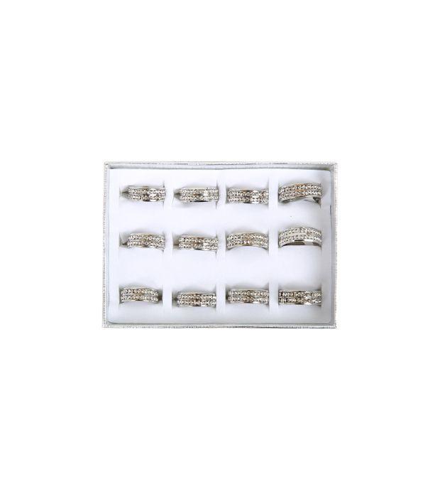 Caja de anillos acero multistrass x12u