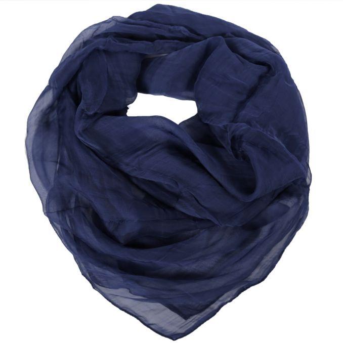 Cuadrado dama 100x100 cm liso azul origen India x1U