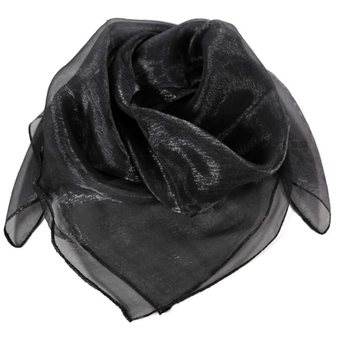 Pañuelo dama 50x50 cm liso negro viscosa origen India x1U