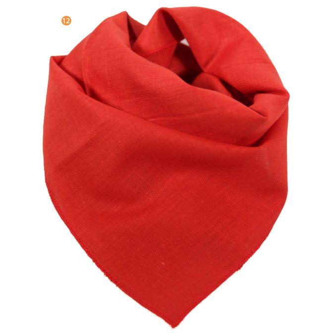 Pañuelo 50x50 cm liso rojo gasa origen india x1U