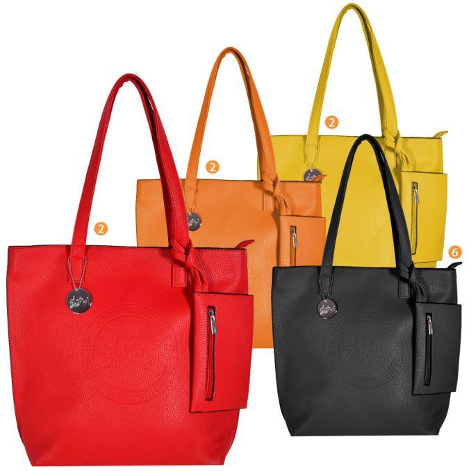 Shopper  Mujer  40X34X10Cm  Press Con Monedero    x12u
