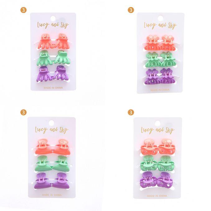 Set x 6 broche chico colores moda x1u
