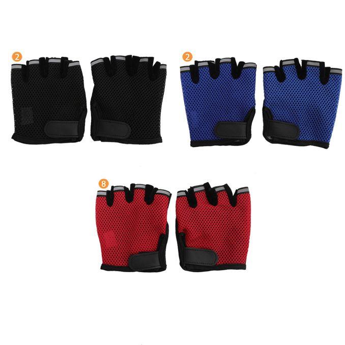 Guante moto sin dedo con red y antideslizante x1u