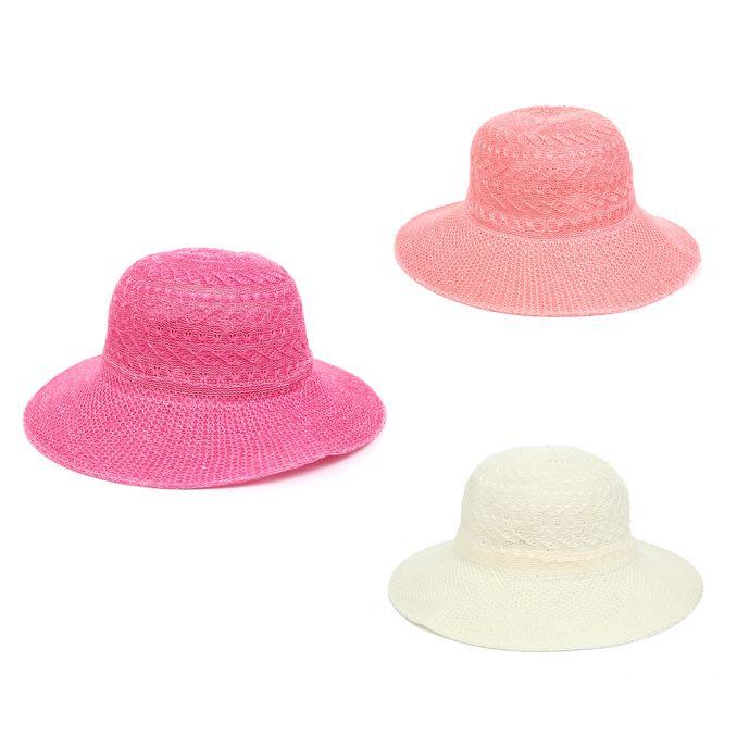 Sombrero capelina infantil bicolor x1u