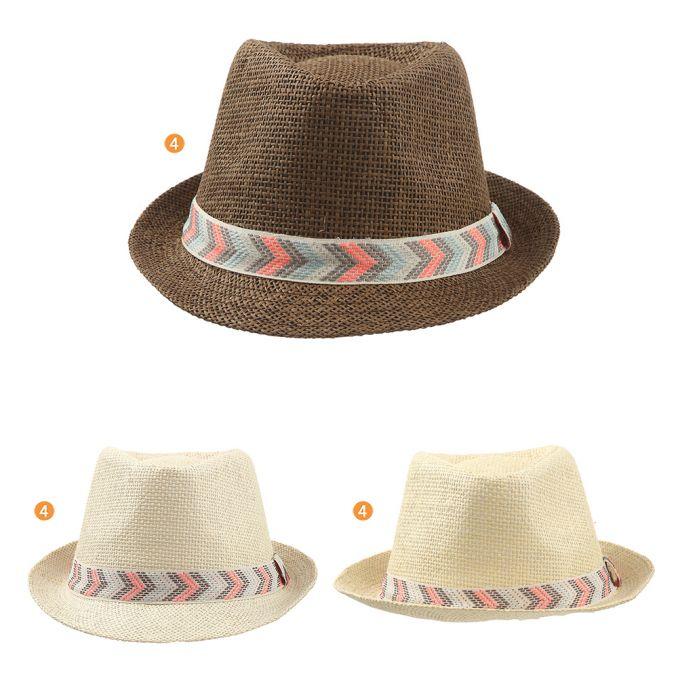 Sombrero tanguero rafia con cinta multicolor x1u