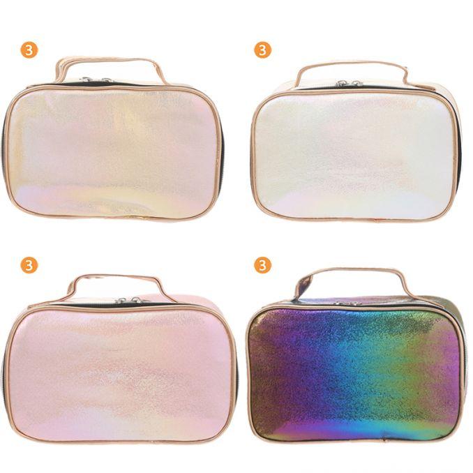 Portacosmeticos Skora 21X13X9 Glitter Con Tapa X 12
