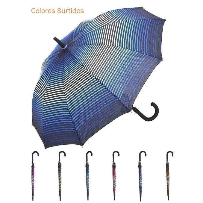 Paraguas Wanderlust 56Cm Largo 10K Estampado Con Mango Goma x12u