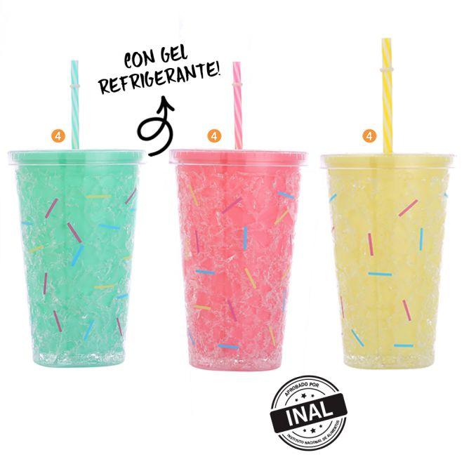 Vaso Confeti 450 Ml con gel refrigerante x1u