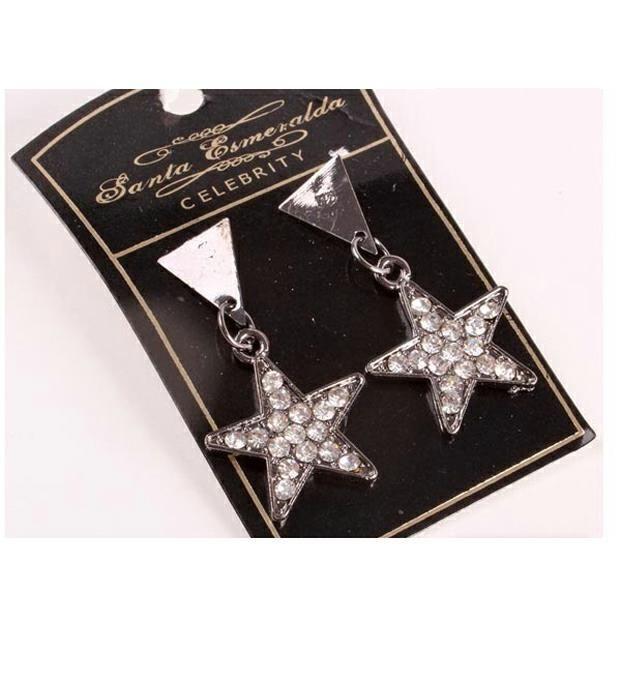 Aros estrella strass x1u