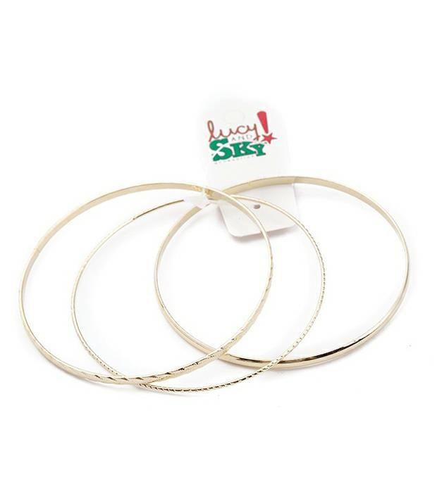 Set pulseras metal labradas x3u
