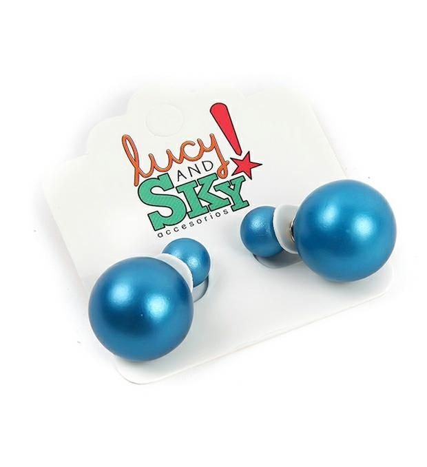 Aro doble perla metalizado  x1u
