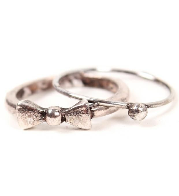 Set anillos falange moño-comúnbolita x2u