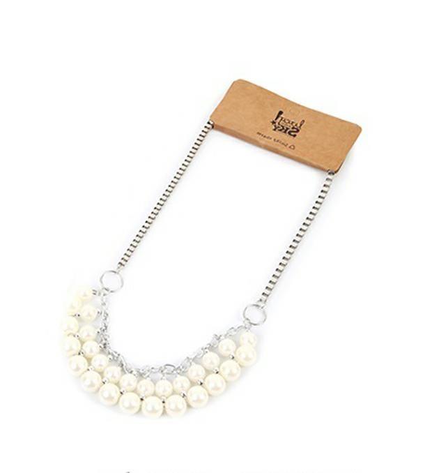 Colgante cadena y perla  x1u