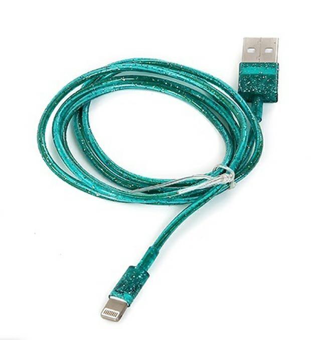 Cable USB glitter Iphone 5/6 x1u