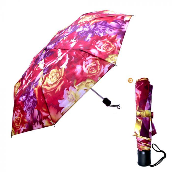 Paraguas mini manual flores. x1u