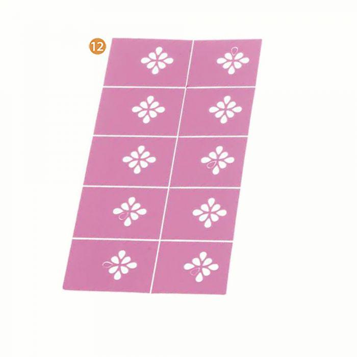 Plancha de stickers para uñas surtido x1u