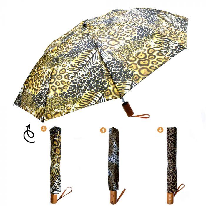 Paraguas 3/4 animal print x1u