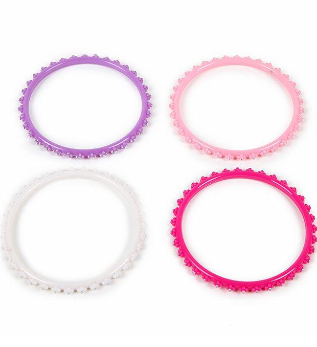 Pack pulsera infantil perlas metalizadas x24u