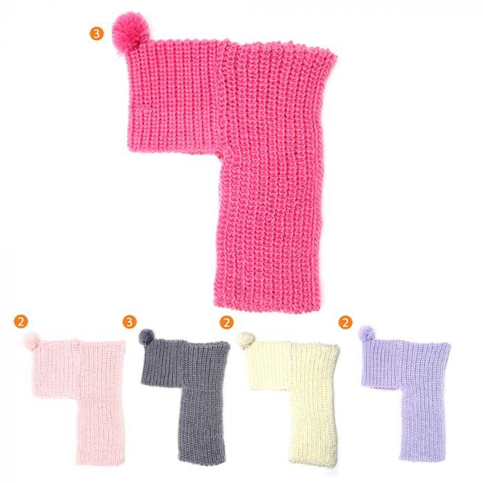 Cuello doble infantil nena con capucha x1u