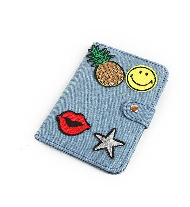 Porta Documento jean con emoji x1u