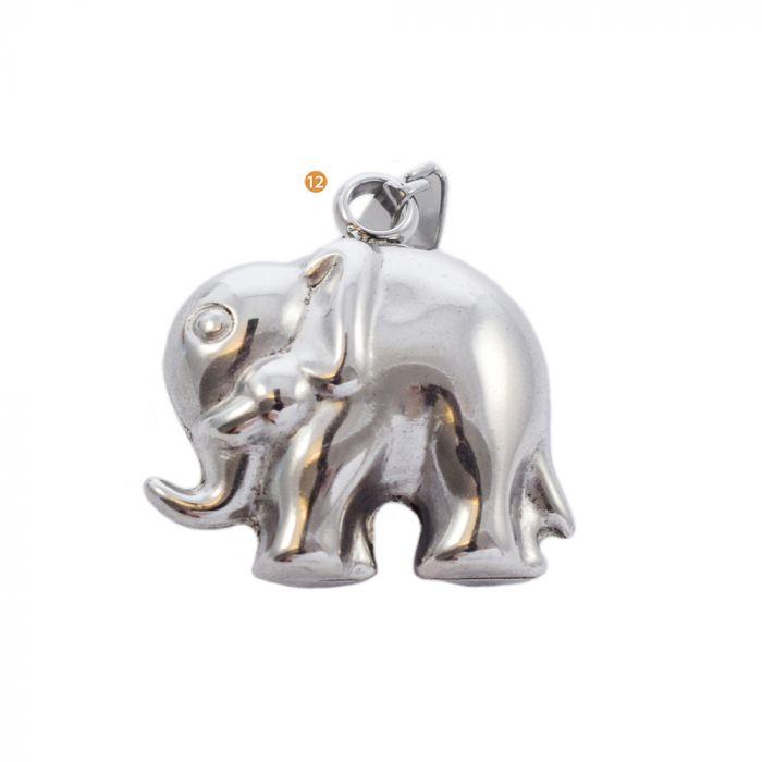 Dije acero blanco elefante 25 mm x1u