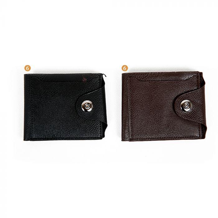 Billetera hombre PU con broche y relieve  x1u