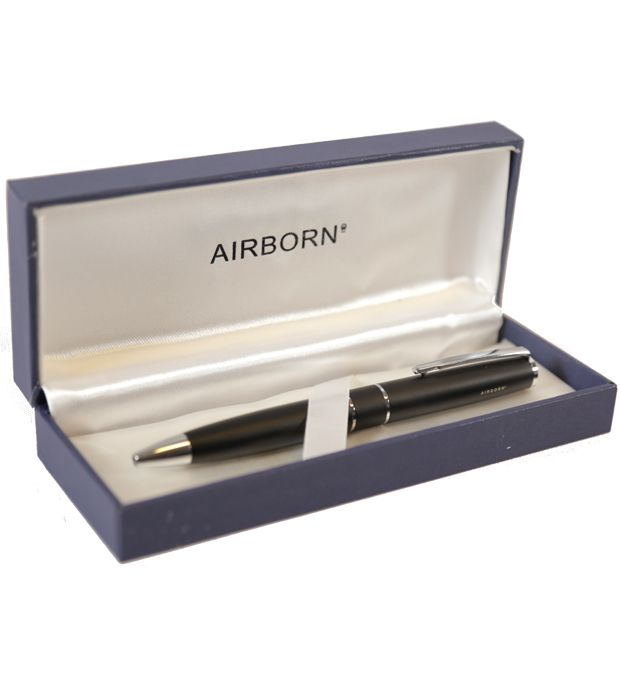 Lapicera retractil en caja Airborn x1u