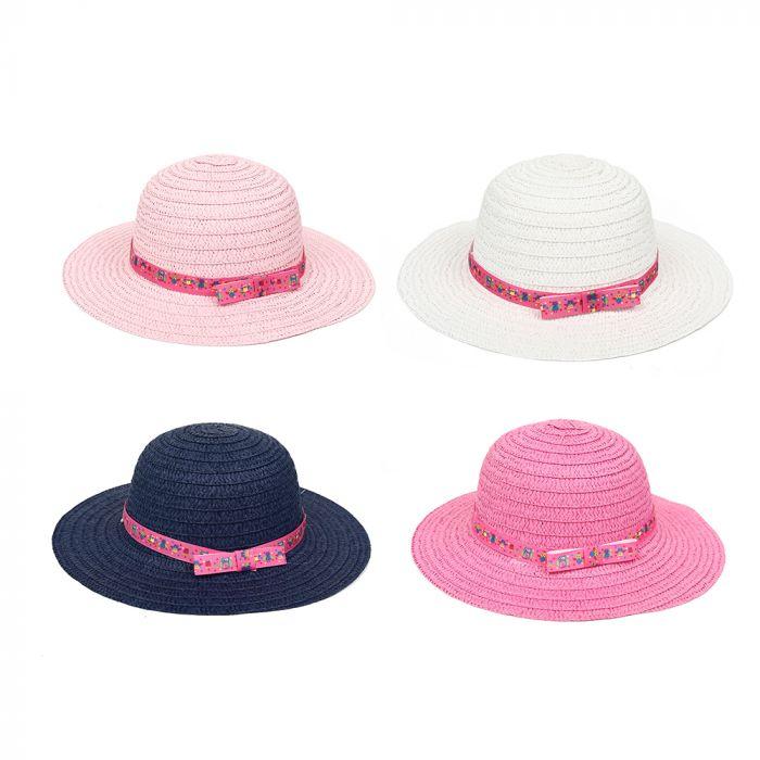 Sombrero capelina infantil con cinta x1u