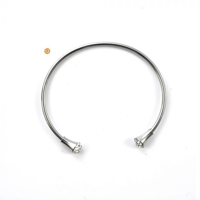 Pulsera acero rígida terminal brillo x1u