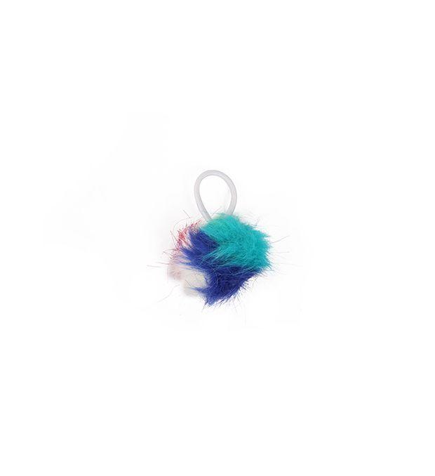 Gomita infantil con pompón multicolor x1u