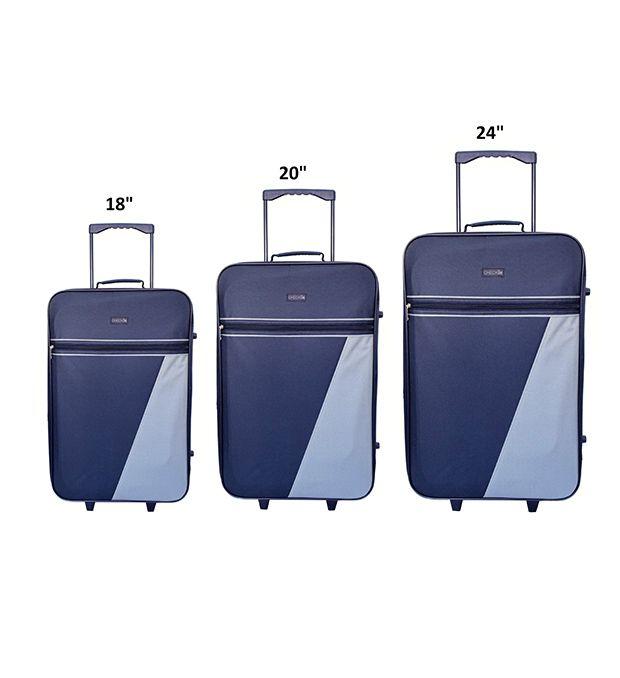 Set valijas 2 ruedas gris Check In (2 Medianas y una Chica) x3u