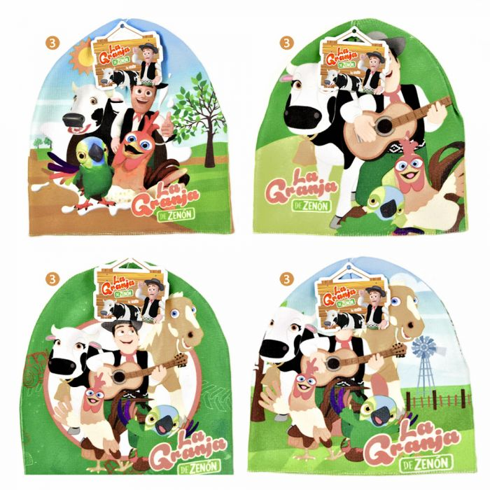 Gorro rocky infantil personajes de La granja de Zenon x1u
