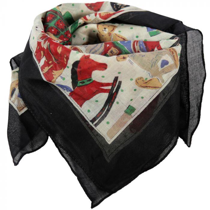 Pañuelo 50x50 cm estampado ositos algodón origen India x1u