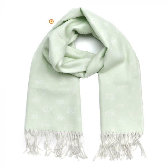 Bufanda dama 30x170 estampado bicolor con flecos x1U
