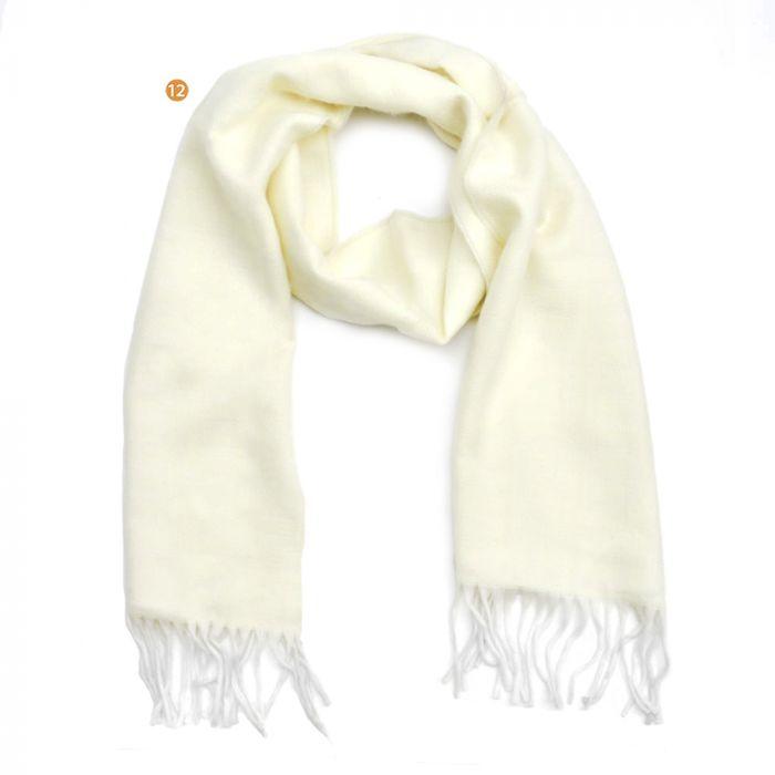 Bufanda dama 30x170 cm estampado bicolor con flecos x1u