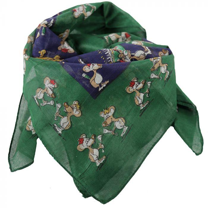 Pañuelo 50x50 cm estampado ratoncitos algodón origen India x1u