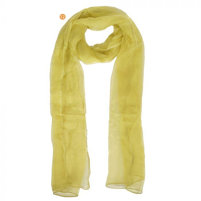 Chalina dama 35x160 cm liso verde poliester origen India x1U