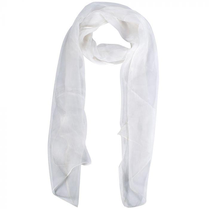 Chalina dama 35x160 cm liso blanco poliester origen India x1U