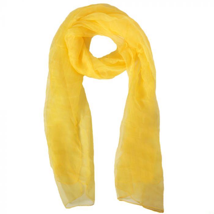 Chalina dama 35x160 cm amarillo origen India x1U
