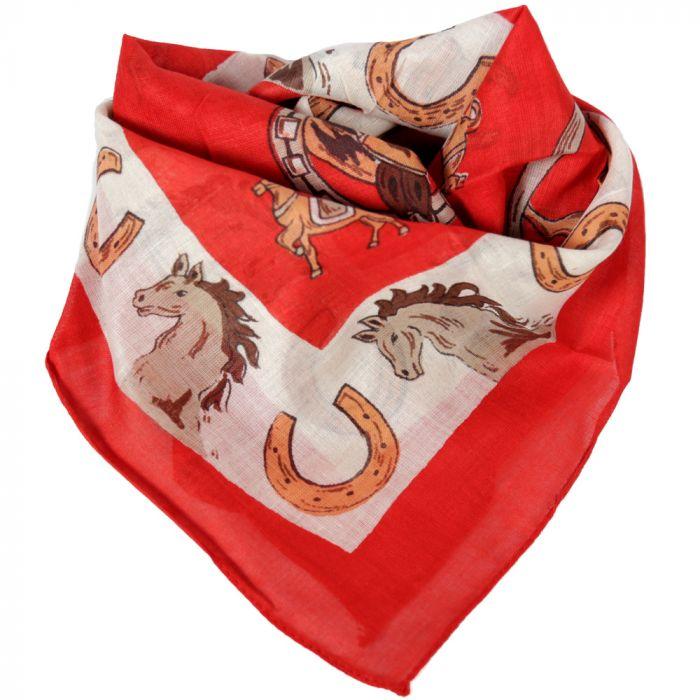 Pañuelo hombre 50x50 cm estampado caballos algodón x1U