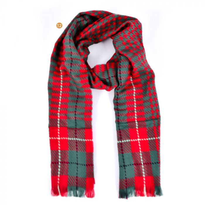 Bufanda 50x140 cm estampado lana  x1U