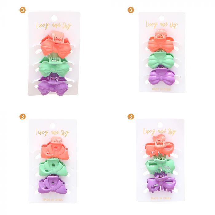 Set x 3 broche mediano colores moda x1u