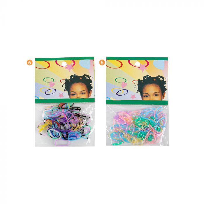 Terminal trenza x90 Multicolor Pasteles infantil  x90u