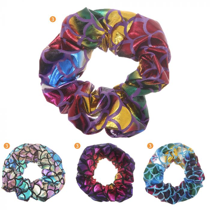Scunzi tela metalizado holograma multicolor x1u