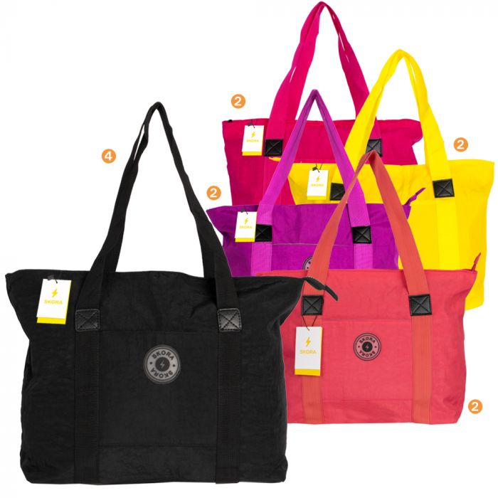 Shopper Mujer 24X20X7 Liso x12u