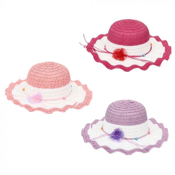 Sombrero capelina infantil con lurex 52cm x1u