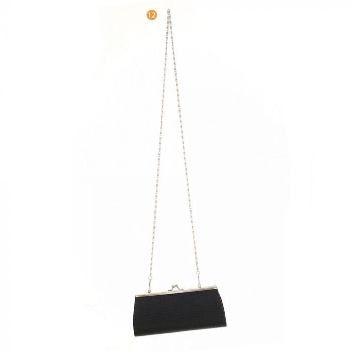 Sobre rigido pellizco fiesta con cadena 18x10 cm x1u