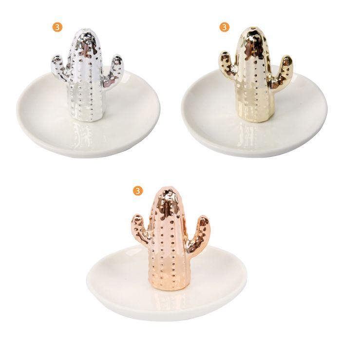 Alhajero de ceramica cactus x1u