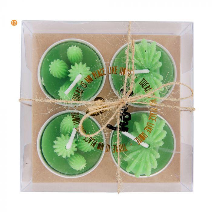 Set x4 velas cactus x1u